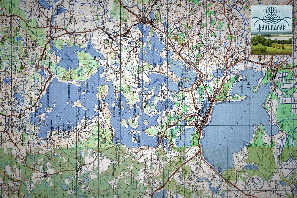 браславские озёра карта